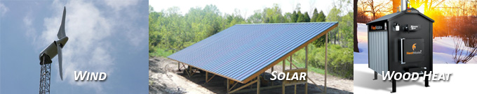 Wind Solar and Wood Heat Banner