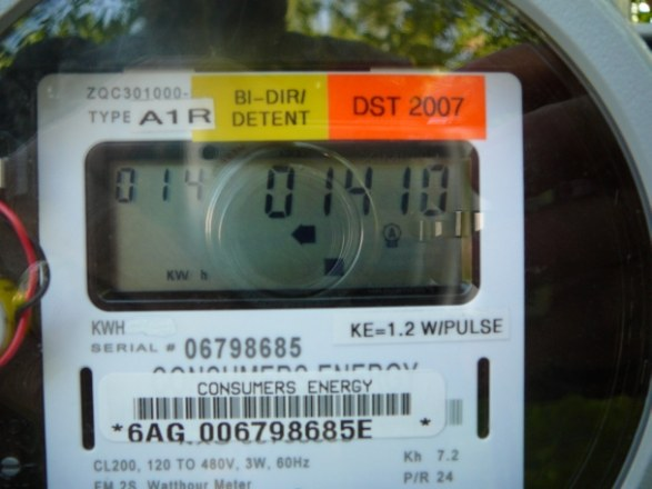 Bi-Directional Meter - 1410KWH Produced